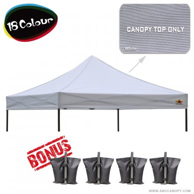 AbcCanopy 3MX3M Pop Up Canopy Replacement Top 100% waterproof - Come with 4 Weight Bag
