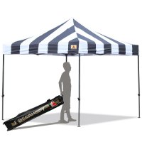 AbcCanopy Carnival 3x3 Black And White Pop Up Canopy Popcorn Cotton Candy Vending Tent