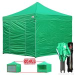 Kelly Green 3m x 3m Pop Up Canopy Folding Gazebo W/6 SideWalls