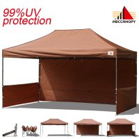 AbcCanopy 3MX4.5M Deluxe Brown Pop Up Canopy Trade Show Both