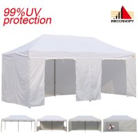 AbcCanopy 3M X 6M Deluxe White Package Tent With Roller Bag