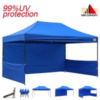 AbcCanopy 3MX4.5M Deluxe Royal Blue Pop Up Canopy Trade Show Both