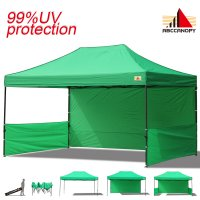 AbcCanopy 3MX4.5M Deluxe Kelly Green Pop Up Canopy Trade Show Both