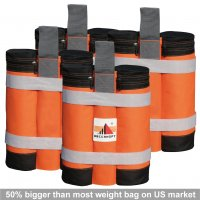New Abccanopy Premium Instant Shelters Weight Bags - Set of 4 - Orange/black