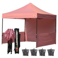AbcCanopy 3MX3M Deluxe Pink Pop Up Canopy Trade Show Both