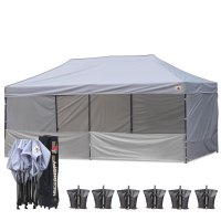 AbcCanopy 3MX6M Deluxe Gray Pop Up Canopy Trade Show Both