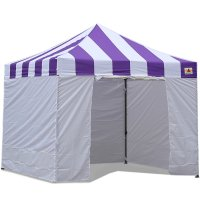 AbcCanopy Carnival Canopy 3x3 Purple With White Walls Ez Part Tent Bouns 6 Walls