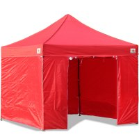 3 x 3m Enclosed Pop up Canopy Commercial Shelter Backyard Gazebo