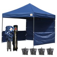 AbcCanopy 3MX3M Deluxe Navy Blue Pop Up Canopy Trade Show Both