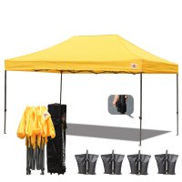 AbcCanopy 3MX4.5M Deluxe Gold Pop Up Canopy With Roller Bag