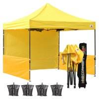AbcCanopy 3MX3M Deluxe Yellow Pop Up Canopy Trade Show Both