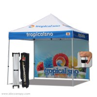 full digital printed 3x3 Custom Canopy Gazebo with back wall
