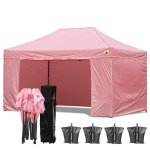 AbcCanopy 3MX4.5M Deluxe Pink Package Tent With Roller Bag