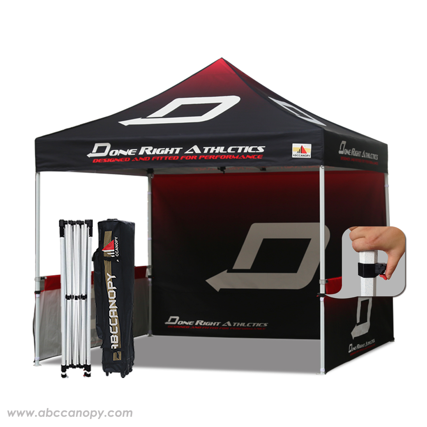 Professional 3mx3m Marquee Custom Pop Up Party Tent Event Gazebo W Roller Bag