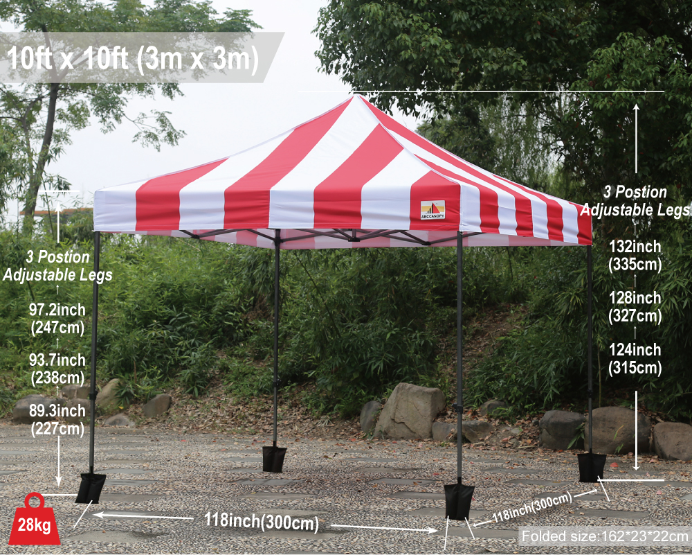 3M X Carnival Ez Pop Up Canopy Instant Shelter Outdor Party Tent Gazebo