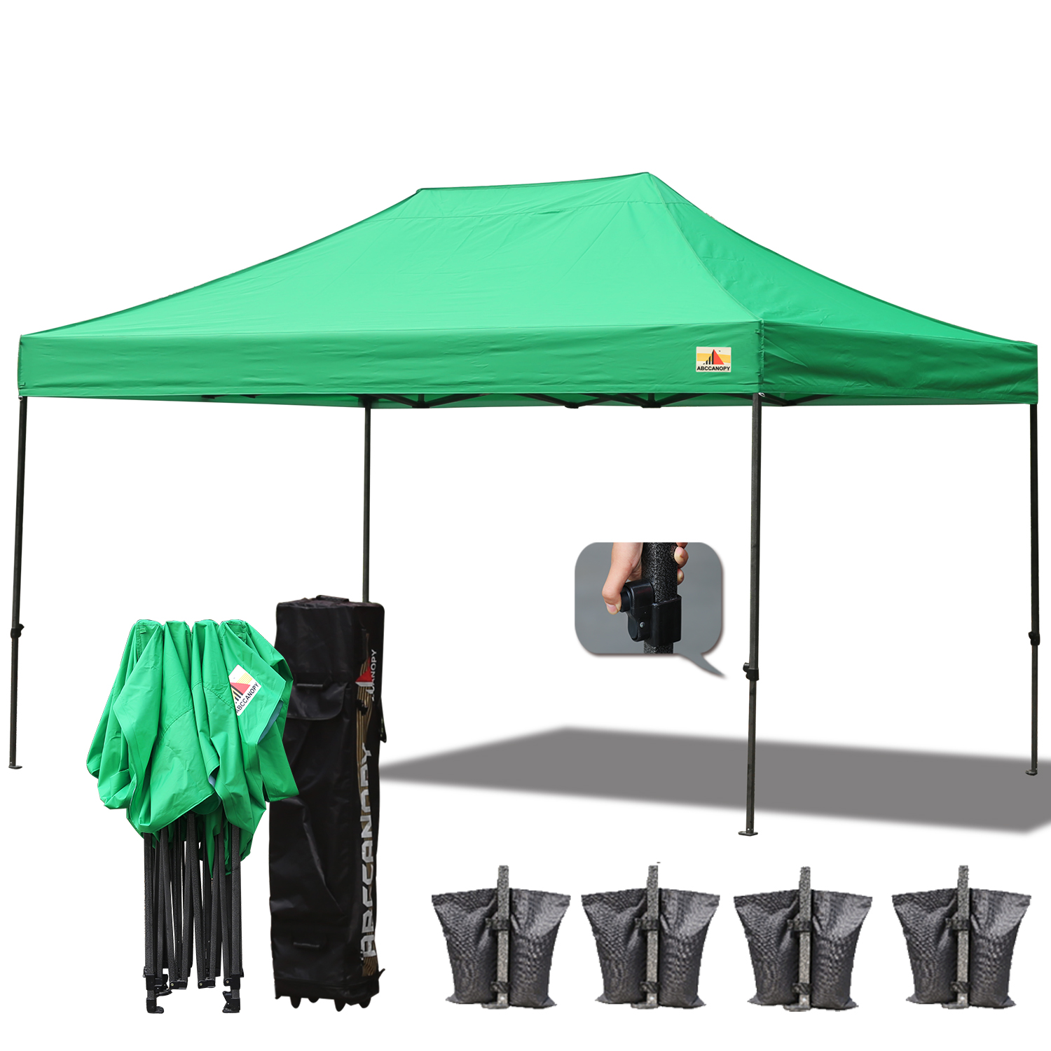 AbcCanopy 3MX4.5M Deluxe Kelly Green Pop Up Canopy With Roller Bag  sc 1 st  Pop Up Tents?Custom Canopies?Pop Up Canopies?Canopy Tents ... & AbcCanopy 3MX4.5M Deluxe Kelly Green Pop Up Canopy With Roller Bag ...