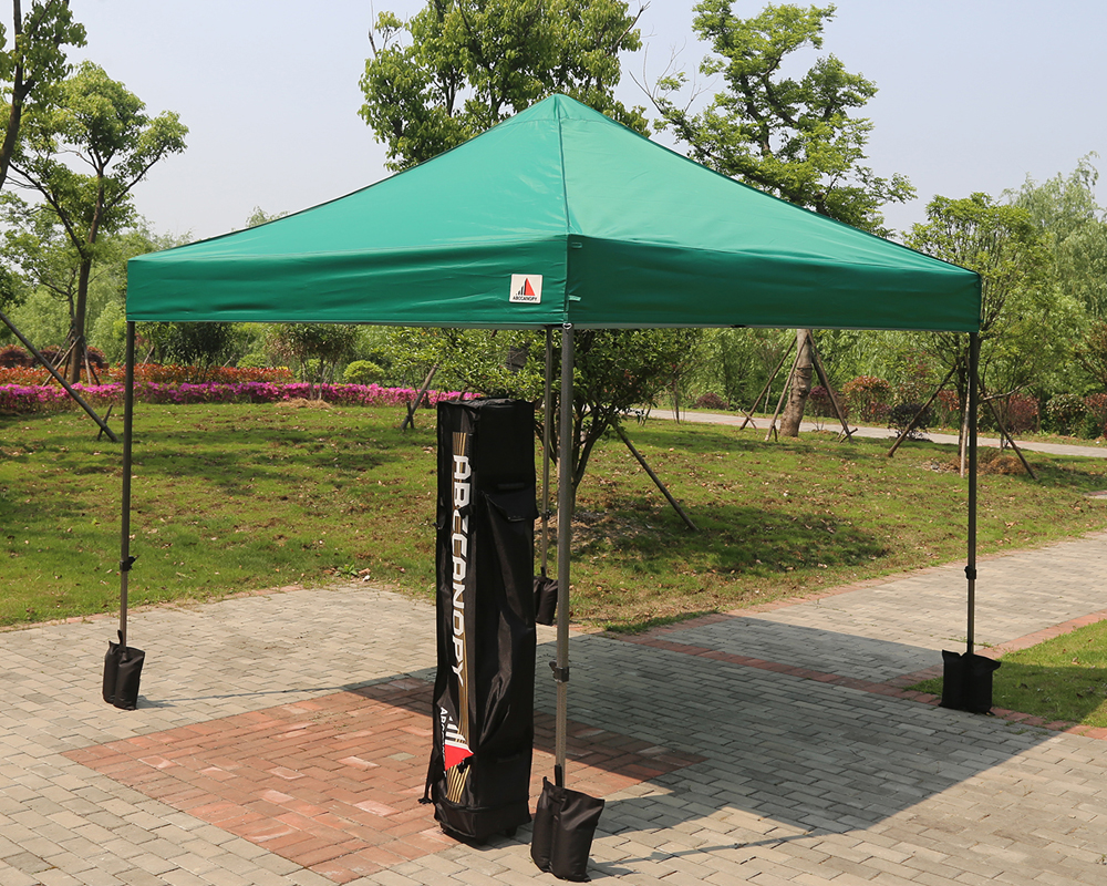 Green Color Canopies : Forest green pop up canopy instant shelter outdor