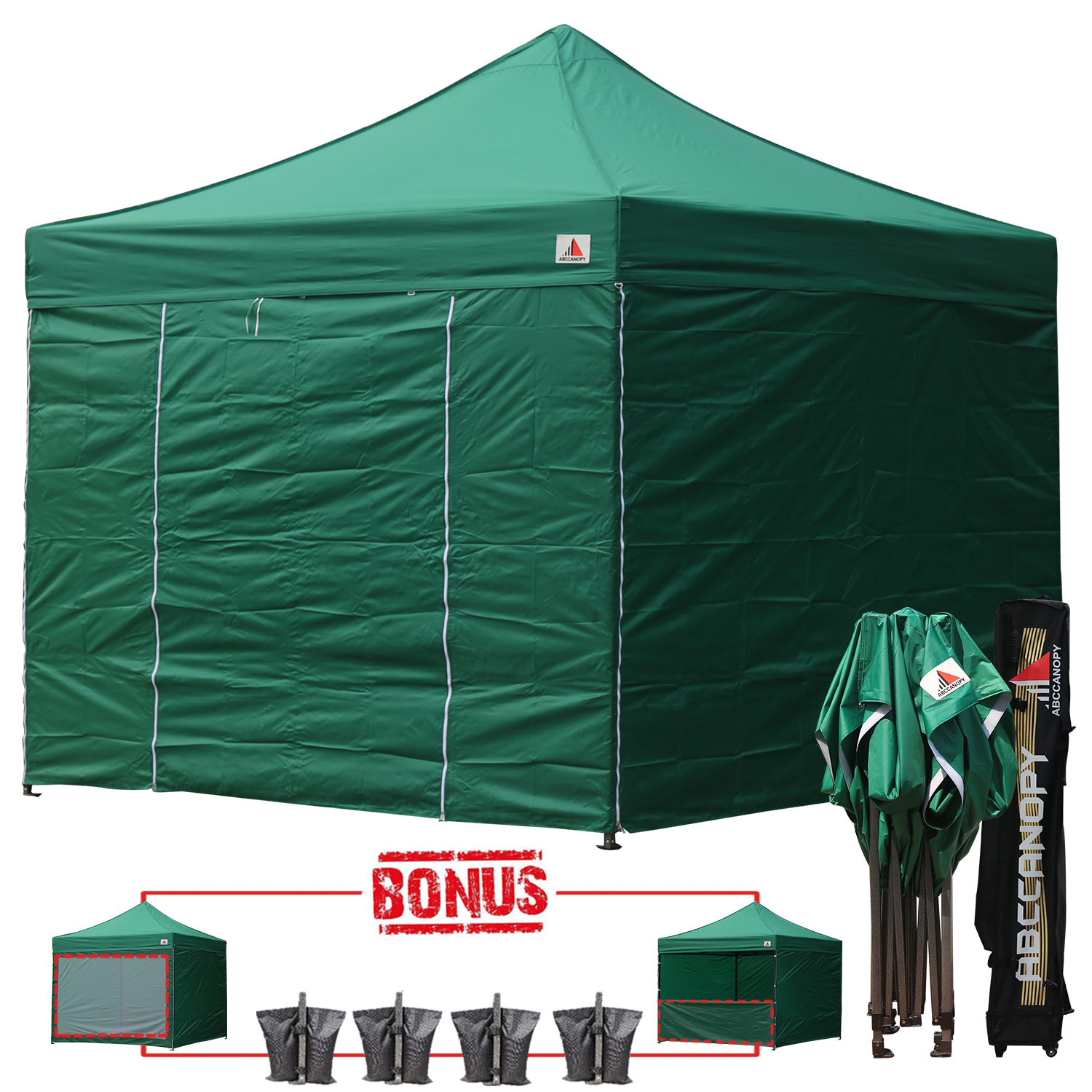 Green Color Canopies : Forest green m pop up canopy folding gazebo w
